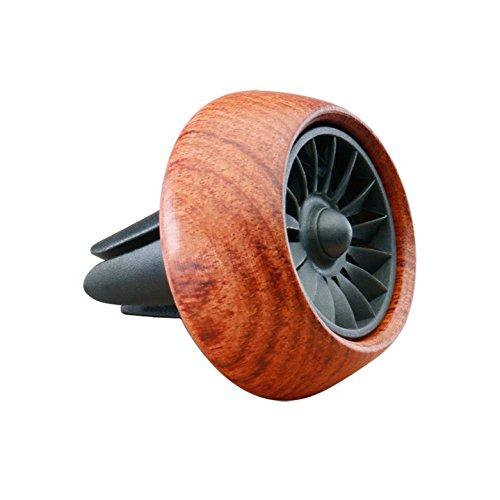 Vicera Auto Duftspender | Auto Lufterfrischer für einen frischen Duft im Fahrzeug | Autoduft mit 3 nachfüllbaren Aromen (Braun)