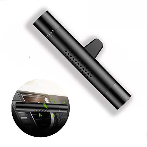 Ecotal Premium Auto Lufterfrischer/Duft-Spender für Lüftungsgitter aus Aluminium mit 3 verschiedenen Duftstäbchen oder für eigene Duftöle – automatische Verteilung durch Klimaanlage (schwarz)