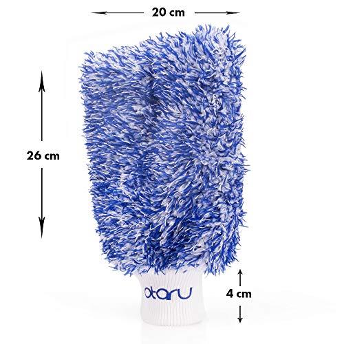 OTARU Hochwertiger Waschhandschuh - Auto & Motorrad - Extragroße Reinigungsfläche (Innovative Fasertechnologie) Besondere Saugstärke