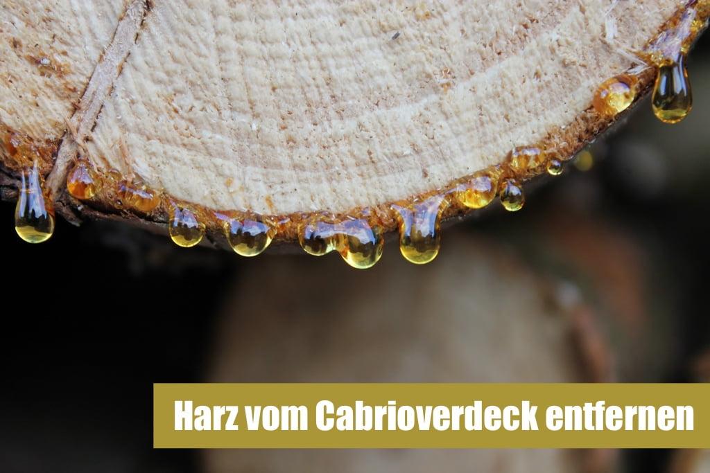 Harz von Cabrioverdeck entfernen