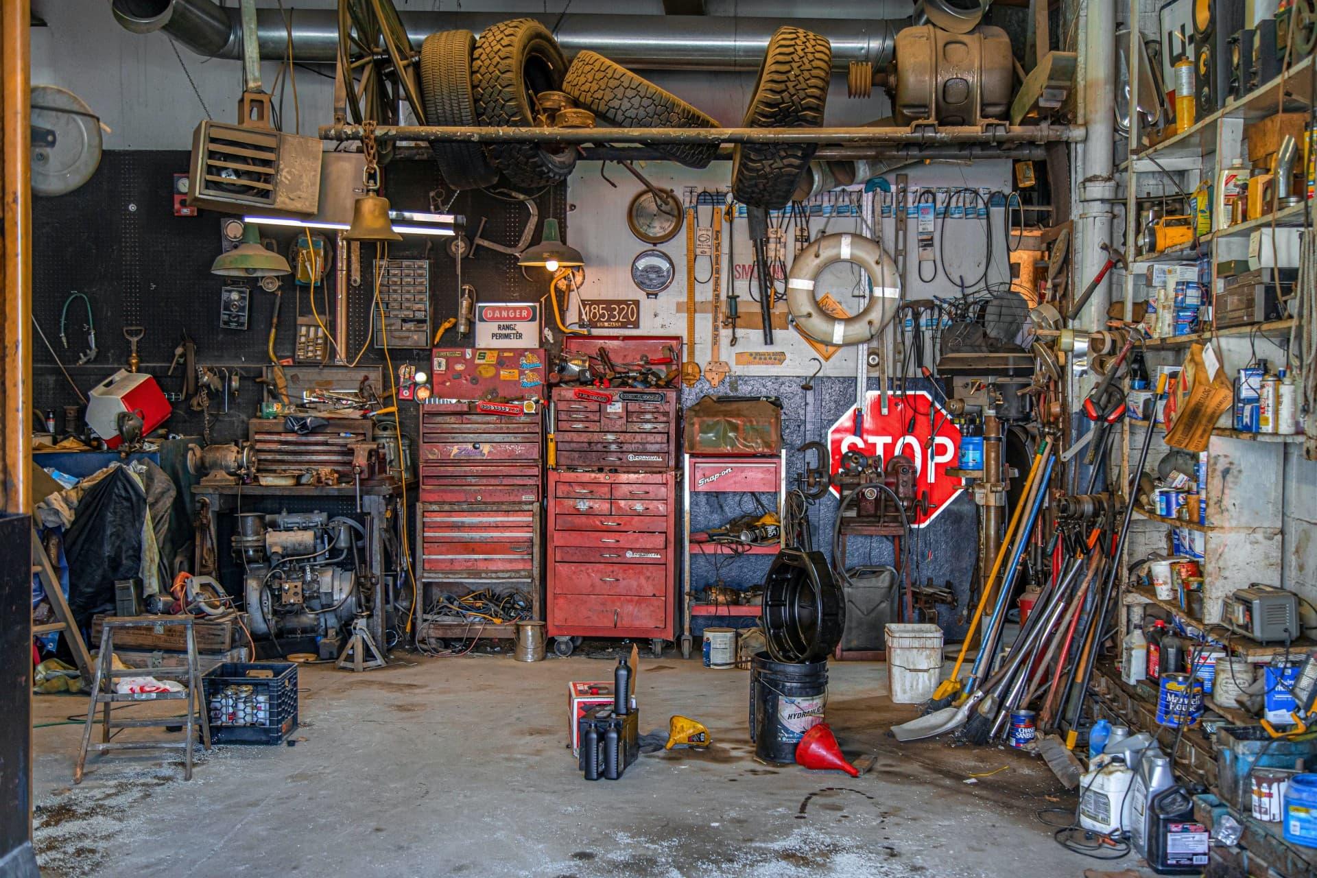 Schrauberwerkstatt - Ausstattung, Einrichtung, Werkzeug